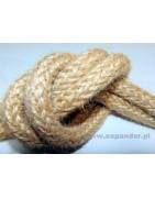 Materiał: juta     Splot: 16 żyłowy     Materiał naturalny     Odporna na ścieranie  Zastosowanie:      -transport, dekoracje, uszczelnianie